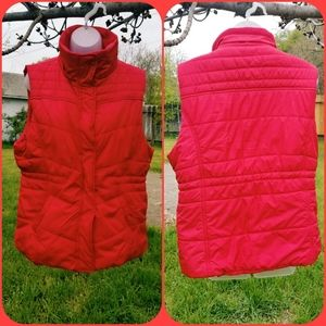 NEW York and Company Red Waterproof Puffer Vest